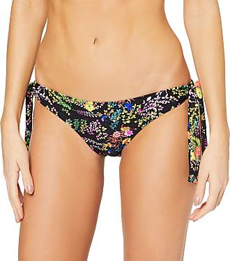 Pour Moi? Womens Hot Spots Tie Side Bottom Bikini, Black Floral, 12