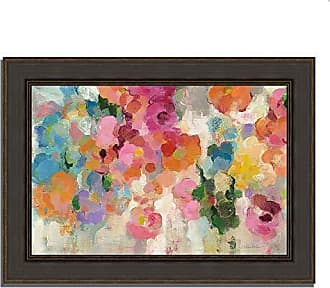 Tangletown Fine Art Colorful Garden I by Silvia Vassileva Framed Art Blue/Pink/Orange