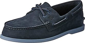 Sperry Top-Sider Mens A/O 2-Eye Washable Boat Shoe, Navy, 9.5 M US