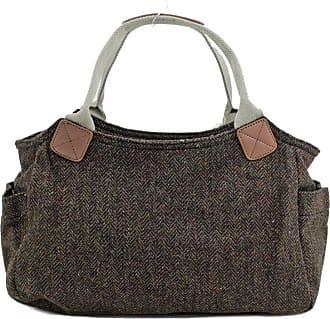 Your Dezire Womens Designer Office Tweed Tote Bag Ladies Shoulder Handbag Work New UK Brown