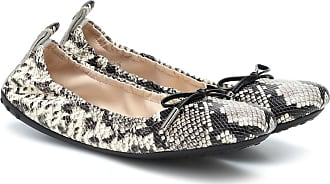 Tod's Snake-effect leather ballet flats