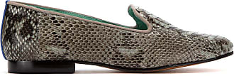 Blue Bird Shoes Loafer Exótico de couro python - Cinza