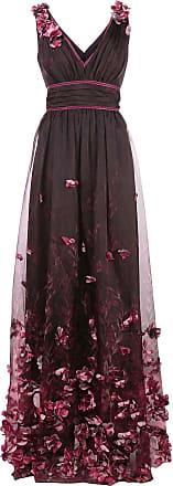 Marchesa floral appliqué gown - PINK