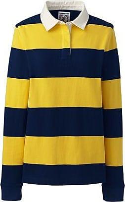 Lands End Gestreiftes Rugbyshirt in großen Größen - Gelb - 52-54 von Lands End
