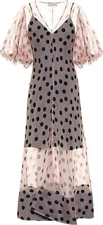 Lee Mathews Rayne polka-dot organza maxi dress