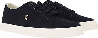 Lauren Ralph Lauren Sneakers - Janson II Canvas Vulc Sneakers Lauren Navy - blue - Sneakers for ladies