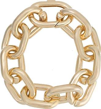 Jack Vartanian Pulseira Chain G prata com banho ouro 18k - Dourado