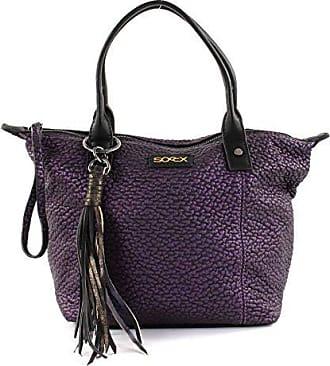 a8af130c87708 soccx Damen Handtasche in geprägter Metallic-Optik