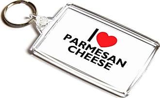 ILoveGifts KEYRING - I Love Parmesan Cheese - Novelty Food & Drink Gift