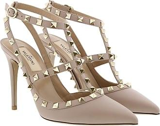 Valentino Pumps - Rockstud Ankle Strap Pump Poudre - beige - Pumps for ladies