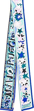 Emilio Pucci Echarpe estampada de seda - Azul