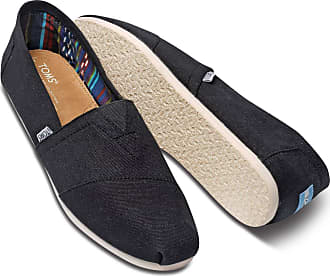Toms Mens Classic Canvas Slip-On (11, Black)