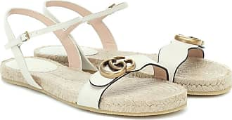 Gucci GG leather espadrille sandals