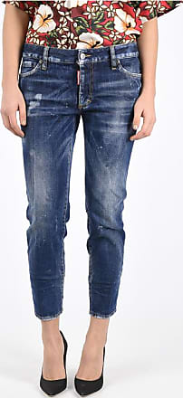 Dsquared2 Jeans SUPER SKINNY CROPPED in Cotone Stretch 16 cm taglia 42 fb749462c3ad