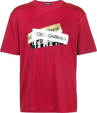 Dolce & Gabbana Camiseta com estampa de logo - Vermelho