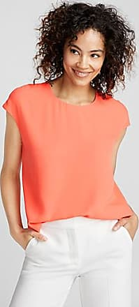 Contemporaine Cap-sleeve fluid crepe blouse