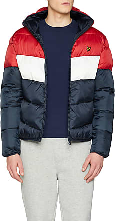 Lyle & Scott Mens Colour Block Puffa Jacket Blue (Dark Navy Z), Medium (Size: M)