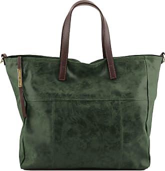 9822c0531d Tuscany Leather Borsa shopping in pelle effetto invecchiato Testa di Moro