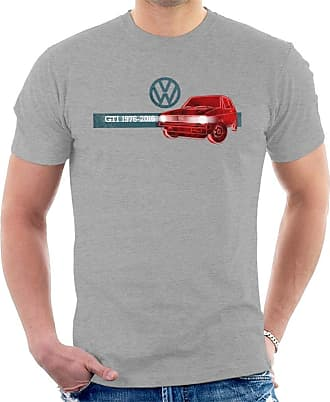 Volkswagen Golf GTI History Mens T-Shirt Heather Grey