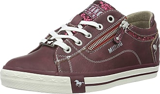 Mustang 1146-301, Womens Low-Top Sneakers, Red (55 bordeaux), 4.5 UK (37 EU)