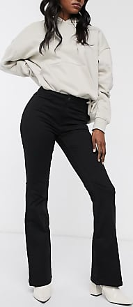 Weekday Jazz flared jeans in deep black