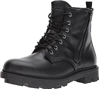 Guess Mens Archibald Combat Boot, Black, 9 Medium US