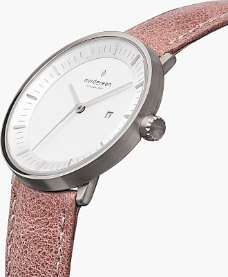 Nordgreen Philosopher - Silver | Pink Leather - 36mm / Silver
