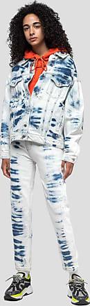 Msgm tie dye print denim pants