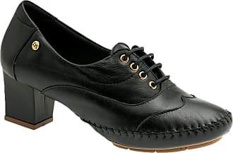Doctor Shoes Antistaffa Sapato Feminino 790 em Couro Preto Doctor Shoes-Preto-38