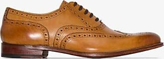 Grenson Mens Brown Dylan Leather Brogues