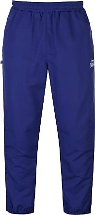 Lonsdale Mens Cuffed Hem Woven Pants Tracksuit Bottoms Zip Mesh Warm Drawstring Navy XL