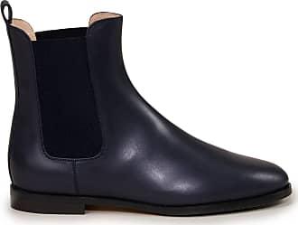 Unützer Chelsea Boots aus Glattleder Dunkelblau