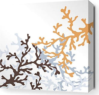 Inhabit Coral Canvas Wall Art Aqua - COAQ_1616C