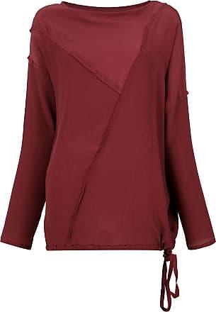 Uma Blusa Milena de seda - Vermelho