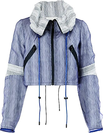 Quetsche striped cropped jacket - Blue