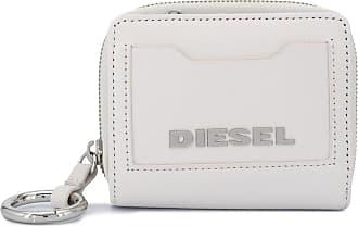 Diesel Carteira com placa de logo - Branco