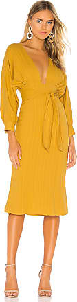 Tularosa Khyla Midi Dress in Yellow