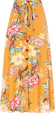 Dress To Saia Midi Estampa Hera - Amarelo