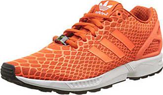 new product 7c5ab 2f3b2 adidas Herren ZX Flux Techfit Low-Top Collegiate Solar Orange FTWR White),