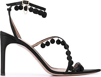 Oscar De La Renta beaded 110mm sandals - Black