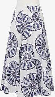 Three Graces London TGL x Zandra Rhodes: Amelina Skirt in Blue Circle