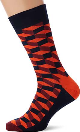 Happy Socks Mens Filled Optic Sock, Multicolour (Multicolour 430), 7-10 (Size:41-46)