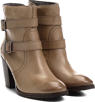 6b35059a97 Shoestock Bota Couro Cano Curto Shoestock Fivelas - Feminino