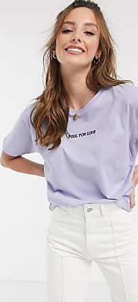 Asos T-shirt con scritta ricamata Fool for Love-Bianco