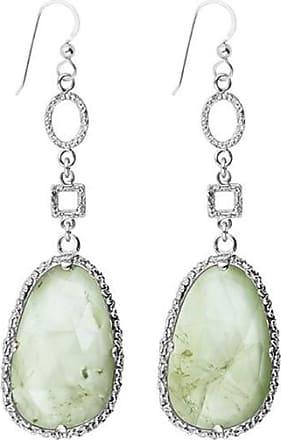 Emma Israelsson Drop Green Silver Earrings
