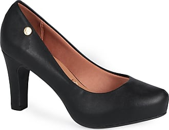 Vizzano Sapato Salto Feminino Vizzano Bico Folha