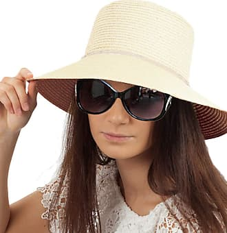 TOSKATOK Ladies Womens Crushable Straw Sun HAT - Cream