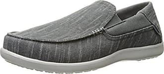 9d50f482ea9464 Crocs Mens Santa Cruz Ii Luxe Slub Slipon Slip-On Loafer Charcoal Light Grey