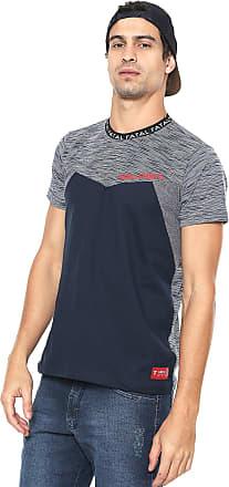 102094f5e2910 Fatal Surf Camiseta Fatal Surf Recortes Azul-marinho