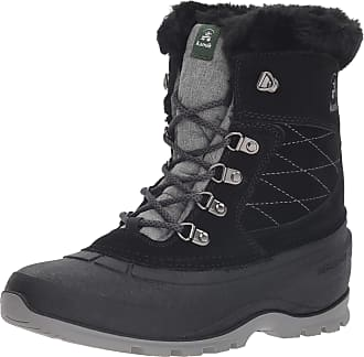 kamik Womens SNOVALLEYL Snow Boot, Black Black Noir Blk, 9 UK